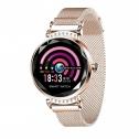 Smartwatch elegant H2, auriu, cu monitor somn